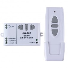 3-Way Wireless RF Wall Switch w/ Remote Control for Projection Screen