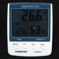 Digital Hygrometer Thermometer Humidity Meter Temperature Humidity Meter with Clock and Date
