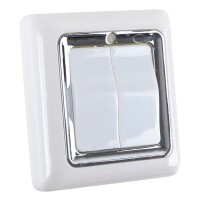 2-Way Wireless Remote Control Wall Plate Light Switch 2CH