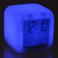 Fashion Glowing LED 7 Color Change Digital Alarm Clock