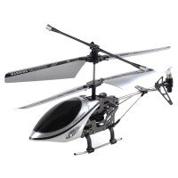 Apple iPhone iPod iPad IR Controlled 3CH R/C I-Helicopter with Gyroscope Silver Black 170