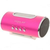PN-27 Mini Portable USB Rechargeable MP3 Player Speaker FM TF Slot Rose Red