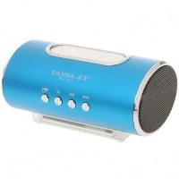 PN-27 Mini Portable USB Rechargeable MP3 Player Speaker FM TF Slot Blue