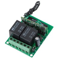2CH RF Wireless Relay Remote Control Controller Module 315MHz 12V ZF-K2