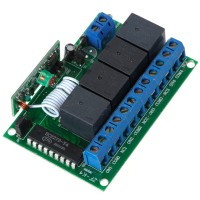 4CH RF Wireless Relay Remote Control Controller Module 315MHz 12V ZF-K4
