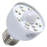 E27 LED PIR Occupancy Motion Sensor Light Bulb 3W White