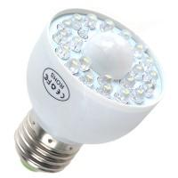 E27 LED PIR Occupancy Motion Sensor Light Bulb 1.8W White
