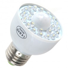 E27 LED PIR Occupancy Motion Sensor Light Bulb 1.8W White