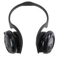 Fashion Sport MP3 Player Headset Headphones TF Card Slot Reader Black