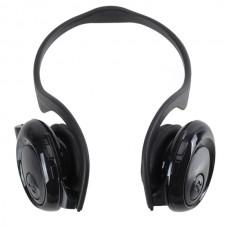 Fashion Sport MP3 Player Headset Headphones TF Card Slot Reader Black