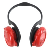 Fashion Sport MP3 Player Headset Headphones TF Card Slot Reader Red