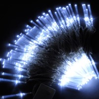 10M White 100-LED Light Decorative Holiday Party Fibre Optic Light 220V