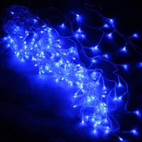 50x50/60/70cm Blue 200-LED String Light for Christmas Holiday Party 220V