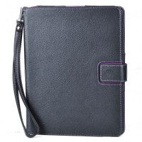 Protective PU Leather Case  +Stand with Strap for iPad 2