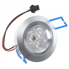 3x1x2W LED Recessed Ceiling Cabinet Light Warm White