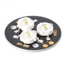 3x1W White LED Lamp Light Parts 6500K T304