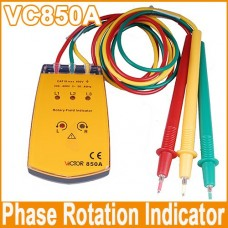 New VICTOR VC850 Three Phase Rotation Indicator Tester