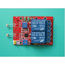 2 Channel 2 in 1 Photosensitive Module with Relay 12V for Light Detection