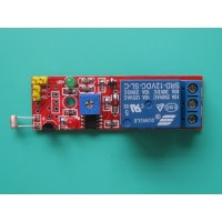 2 in 1 Photosensitive Module with Relay 12V for Light Detection