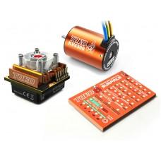 SKYRC Toro10 C60 60A ESC Combo+Toro 4300KV/4P Brushless Motor w/ Programming Card for 1/10 Scale Car