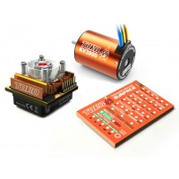 SKYRC Toro10 C120 120A ESC Combo+Toro 3900KV/4P Brushless Motor w/ Programming Card for 1/10 Scale Car