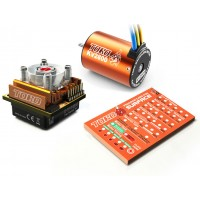 SKYRC Toro10 C120 120A ESC Combo+Toro 2800KV/4P Brushless Motor w/ Programming Card for 1/10 Scale Car