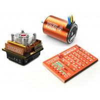 SKYRC Toro10 C120 120A ESC Combo+Toro 2200KV/4P Brushless Motor w/ Programming Card for 1/10 Scale Car
