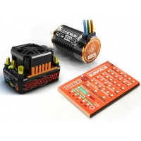 SkyRc Toro Short Course 120A ESC Combo + 4000KV/4P Brushless Motor + Programming Card for 1/10 Scale Car
