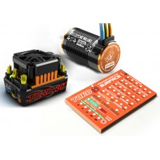SkyRc Toro Short Course 120A ESC Combo + 4600KV/4P Brushless Motor + Programming Card for 1/10 Scale Car