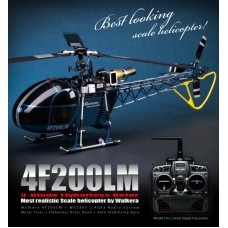 Walkera Helicopter RTF 4F200LM 8-CH WK2801 (2.4 GHz silver Edition)