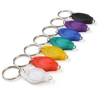 Multicolored Rainbow RGB Flashing LED keychain Flashlights Color Assorted (10-Pack)
