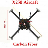 X250 Carbon Fiber Xcopter Quadcopter Aircraft Frame Kit Super Strength