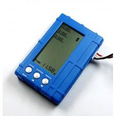 RC Model 3in1 2-6S Max 5W Lipo Li-Po Battery LCD Balancer Display-Blue