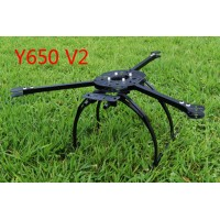 Y650-V2 Tri-copter 3-Axial/Y6 Copter DIY Frame Folding Design