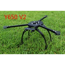 Y650-V2 Tri-copter 3-Axial/Y6 Copter DIY Frame Folding Design