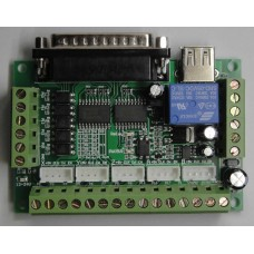 Upgraded 5 Axis CNC Breakout Board For Stepper Driver Controller Mach3 12-24V