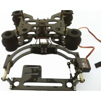 IDEA FLY Two-Axis Tilt/Pan Shock-Absortion Camera Mount FPV PTZ(Plastic +Carbon Fiber)