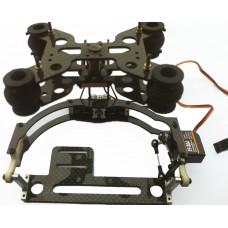 IDEA FLY Two-Axis Tilt/Pan Shock-Absortion Camera Mount FPV PTZ(Plastic +Carbon Fiber)