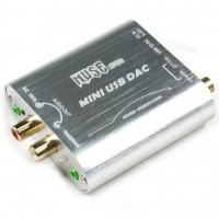 MUSE Mini 24Bit 192Khz Coaxial Optical USB Input DAC Headphone Out Silver