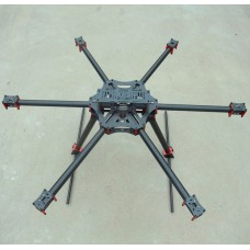 YG-X6 800 KK MK FF MWC 22mm Carbon Fiber Folding Hexacopter FPV Aircraft + Landing Skid