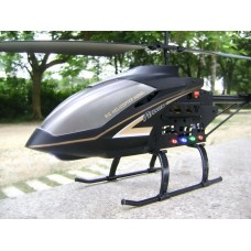 S688 2.4G 3.5 Channel Gyroscope Helicopter with Transmitter-Black(Standard Package)
