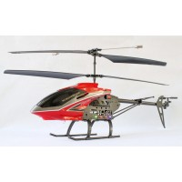 S688 2.4G 3.5 Channel Gyroscope Helicopter with LCD Display Transmitter-Red