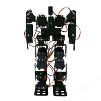 17DOF Biped Robotic Educational Robot Kit Servo Bracket Ball Bearing Black