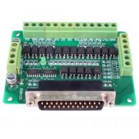 6 Axis CNC DB25 Breakout Board Adapter MACH3 KCAM4 EMC2