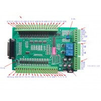 CNC Breakout Board Mach3 EMC2 DB25 Interface Board