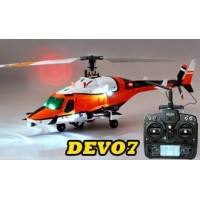 Walkera V200DQ01 with DEVO7 Transmitter Flybarless Helicopter RTF 2.4Ghz