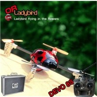 Walkera QR Ladybird with DEVO 8S RC transmitter Quadrocopter 2.4GHz RTF (Include Aluminium case)