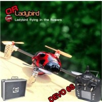 Walkera QR Ladybird with DEVO 6S RC quadrocopter 6-axis 2.4GHz RTF  (Include Aluminium case)