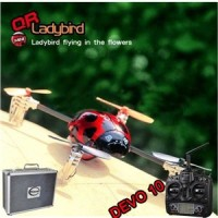 Walkera QR Ladybird with DEVO 10 RC Quadrocopter 2.4GHz RTF (Include Aluminium case)