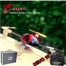 Walkera QR Ladybird with DEVO 10 RC Quadrocopter 2.4GHz RTF (Include Aluminium case)